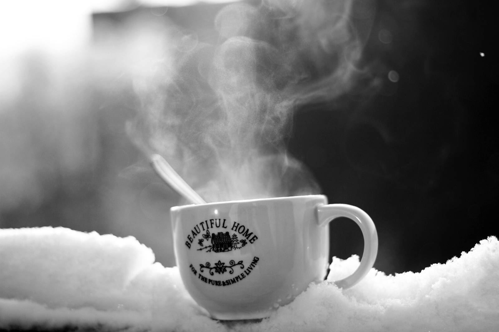 The best coffee recipe in winter morning