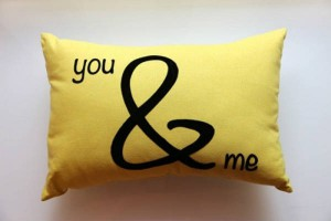 You And Me Pillow Yellow