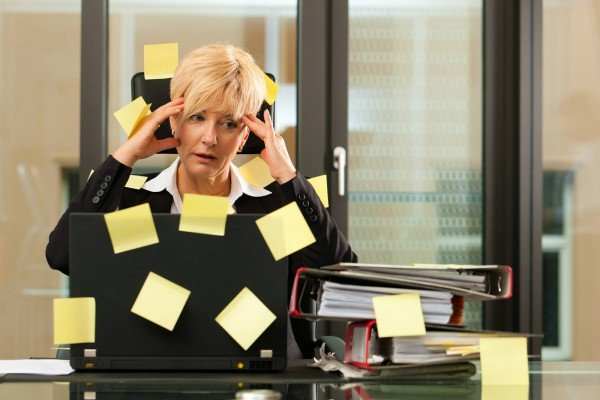 Woman Having Stress in the Office