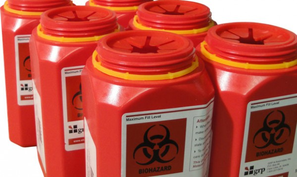 Healthcare - Red-Sharps-Containers-600x358