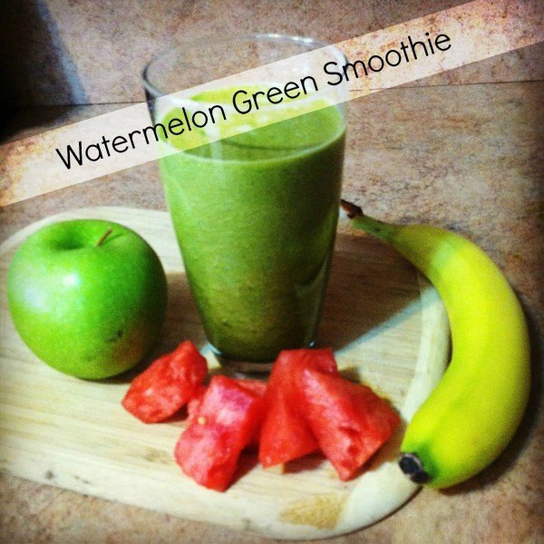 Watermelon Banana Green Smoothie