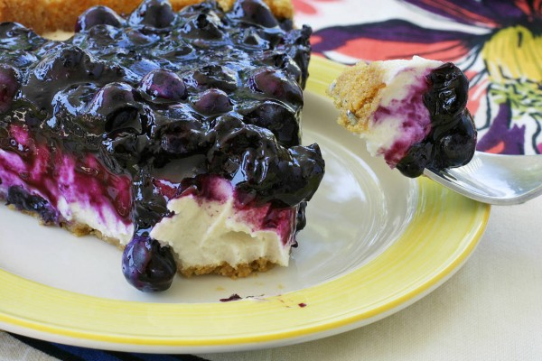 Vegan Desserts - Red White and Blueberry Vegan Cheesecake
