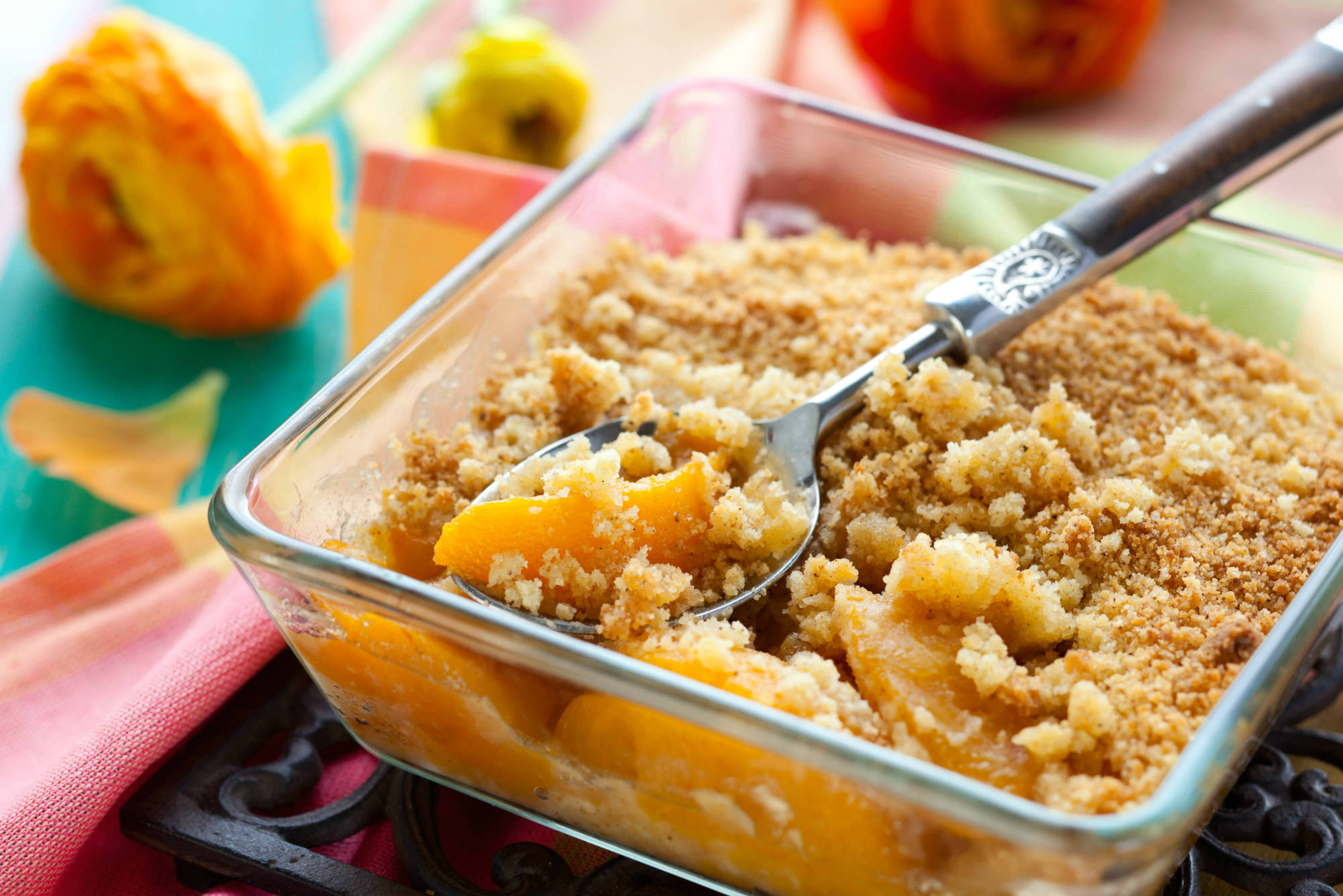 Peach and Pineapple Crumble